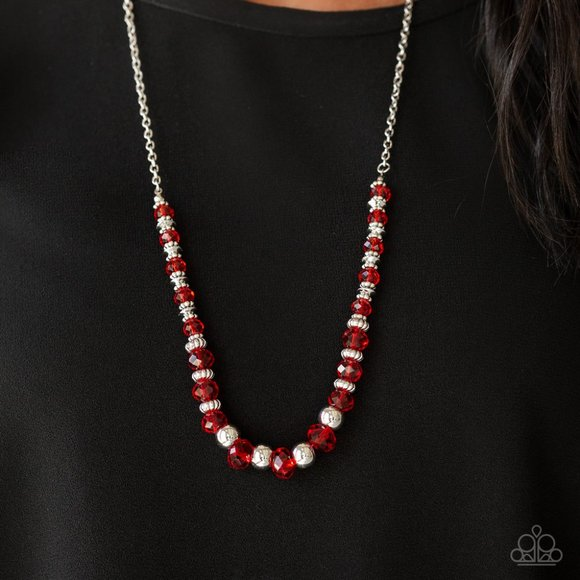 Paparazzi Stratosphere Sparkle - Red Necklace